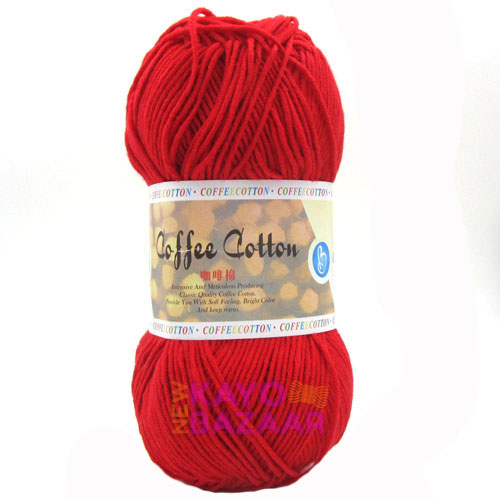 Coffee cotton 15 cherry red