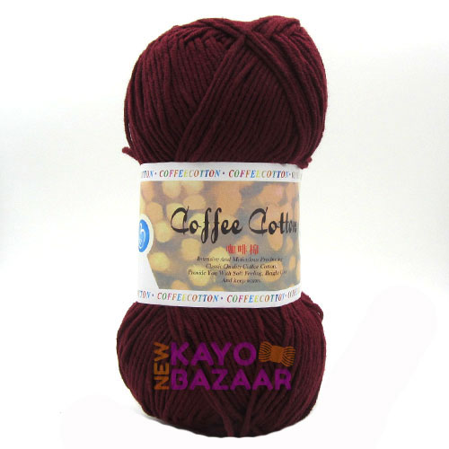 Coffee cotton 21 maroon
